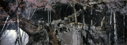 淡墨桜 250x700cm 1997作 MOA美術館所蔵